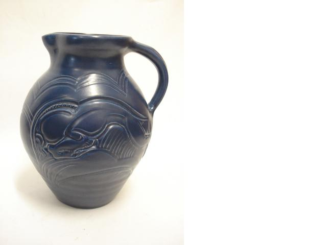 A Susie Cooper Leaping Ram jug