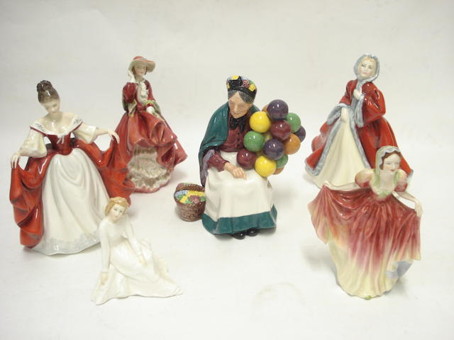 A collection of five Royal Doulton figures