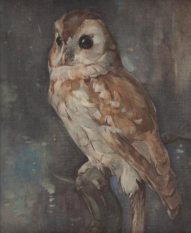 Joseph Crawhall (British, 1861-1913) Barn Owl 30.5 x 23 cm. (12 x 9 1/16 in.)