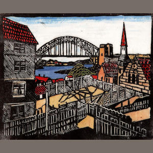 Margaret Preston (1875-1963) The Bridge from the North Shore c.1932