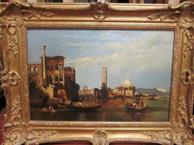 Italian School, late 19th Century Venetian canal scene