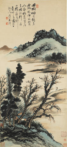 Attributed to Shi Tao (1641-after 1707) Landscape