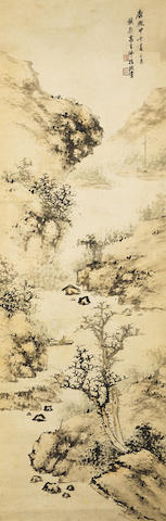 Attributed to Gao Qipei (1660-1734) Finger Painted Landscape
