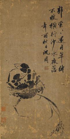 Shen Zhou (1427-1509) Crab