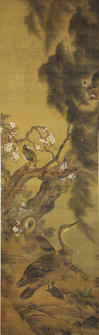 Attributed to Wang Yuan (14th Century) Spring Flowers and Birds