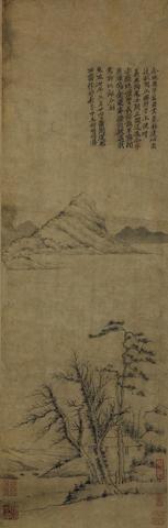 Attributed to Ni Zan (1301-1374) Spring Landscape