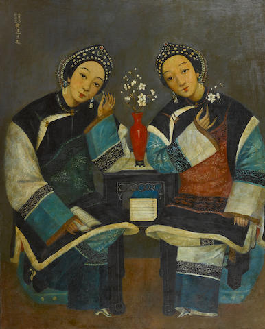 Huang Dasheng (19th/20th Century) Two Beauties