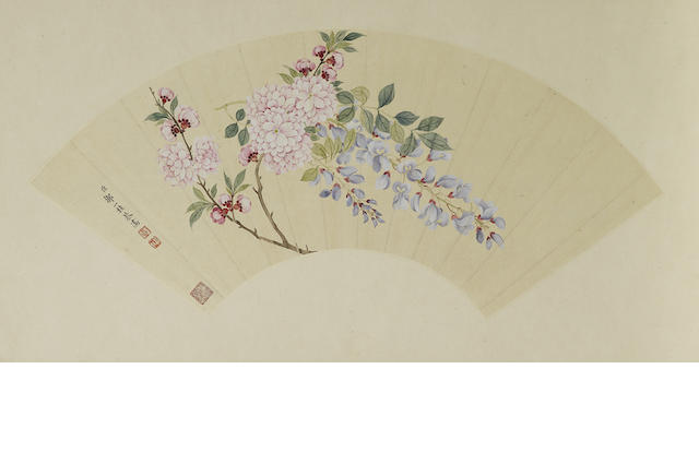 Attributed to Zou Yigui (1686-1772) Spring Flowers
