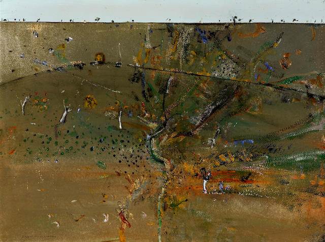 Fred Williams (1927-1982) Landscape near Cavan, Canberra c.1980