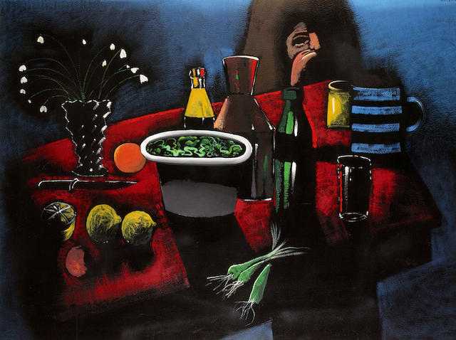 Charles Blackman (born 1928) The Red Tablecloth c.1968