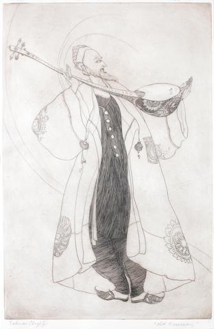 Abdur Rahman Chughtai (Pakistan, 1897-1975) Old Musician