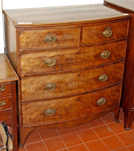 An early 19th Century mahogany bowfront chest
