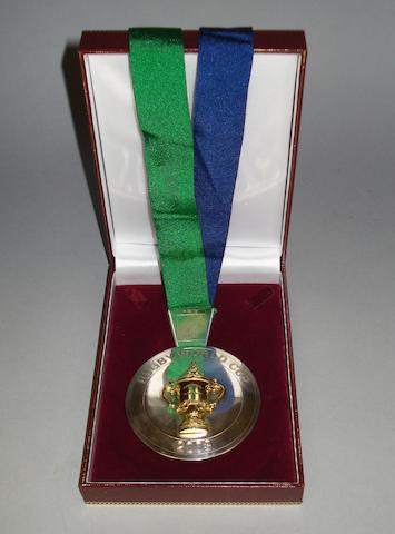A 2003 Rugby World Cup Winners medal, in box.