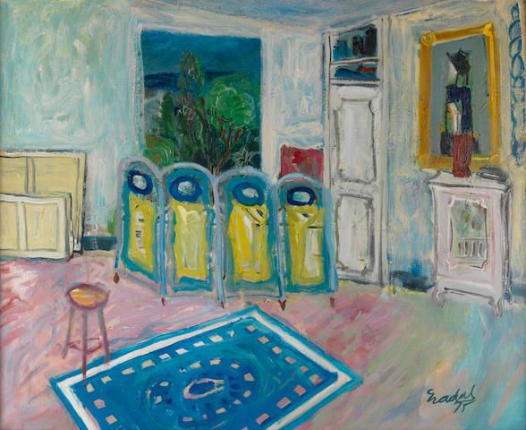 Carlos Nadal (1917-1998) Le tapis bleu