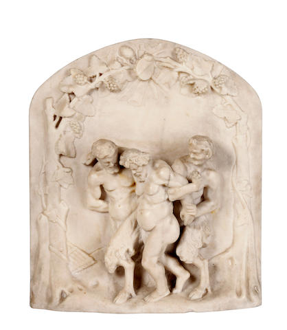 A late 19th Century carved marble relief