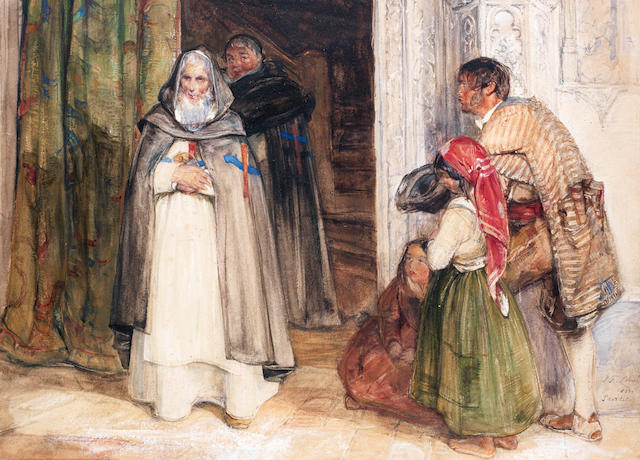 John Frederick Lewis, RA, POWS (British, 1805-1876) Asking for alms