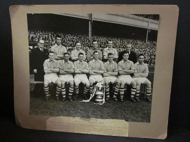 1949/50 Arsenal F.C. F.A. Cup winners team photograph
