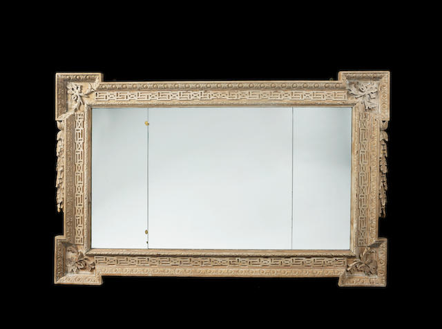 GEORGE 11 STRIPPED PINE WALL MIRROR