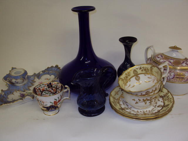 A mixed collection of ceramics and glass
