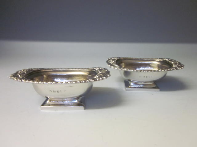 A pair of George III salts,  London 1814, makers marks indistinct  (2)