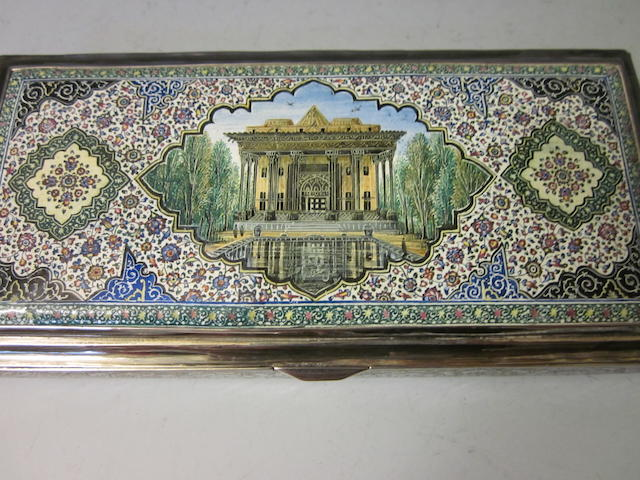 A Middle Eastern cigarette box,