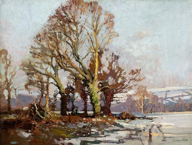 Sydney Long (1871-1955) Snow in Devon