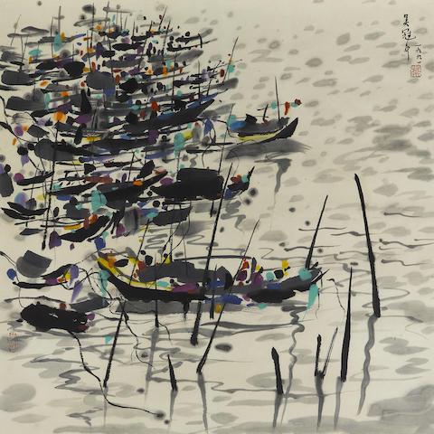 Wu Guanzhong (1919-2010) Boats