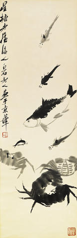 Qi Baishi (1863-1957) Fish and Crabs