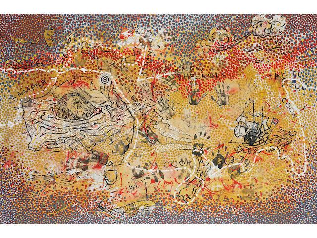 Gordon Bennett (born 1955) Haptic Painting Explorer (The Inland Sea) 1993