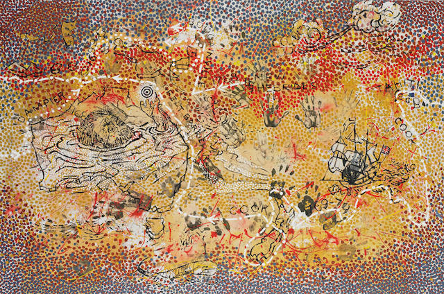 Gordon Bennett (born 1955) Haptic Painting Explorer (The Inland Sea) 1993