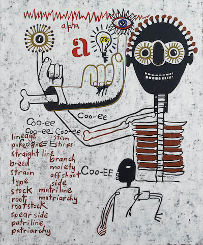 Gordon Bennett (born 1955) Coo-ee 2003