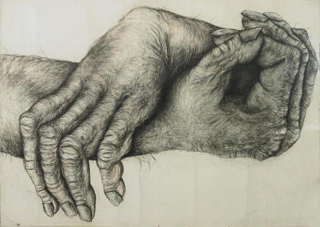 Lisa Roet (born 1967) Primate Hands No.2 2006