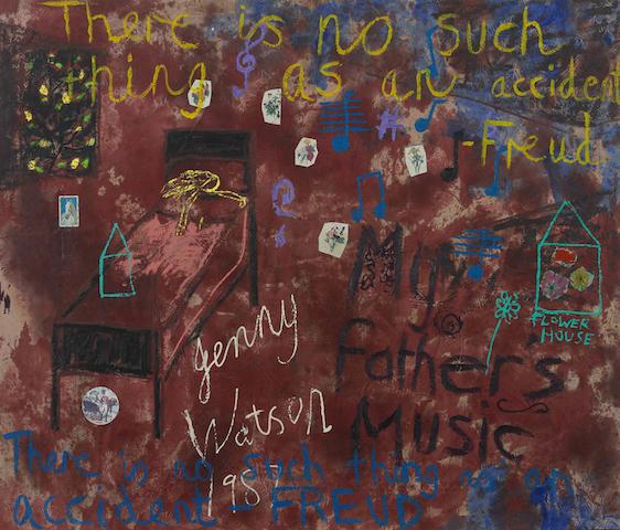 Jenny Watson (born 1951) My Father's Music 1987