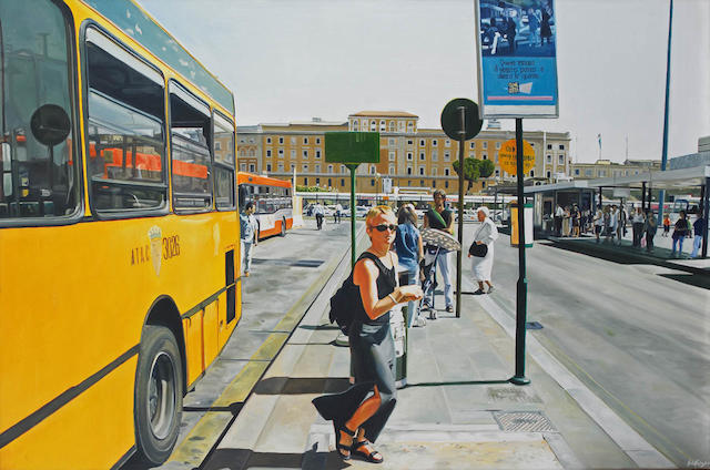 Julie Fragar (born 1977) Self Portrait - Bus No. 64 1999