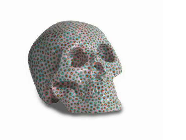 Chen Fei (Chinese, born 1983) Untitled Skull 18.0 x 23.0 x 17.0cm (7 1/16 x 9 1/16 x 6 11/16in).