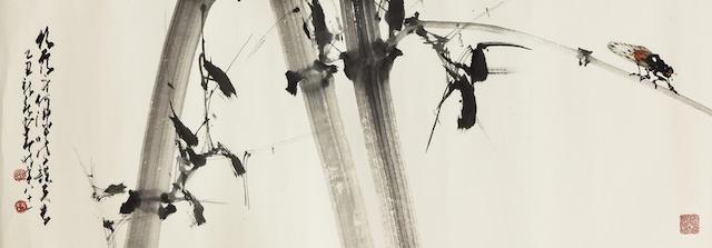 Zhao Shao'ang (Chao Shao'ang, 1905-1998) Cicada and Bamboo