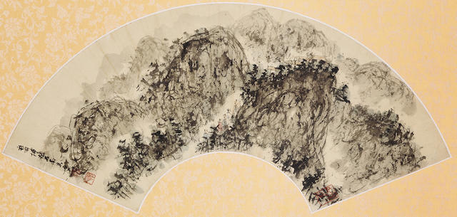 Fu Baoshi (1904-1965) Mountain Trip