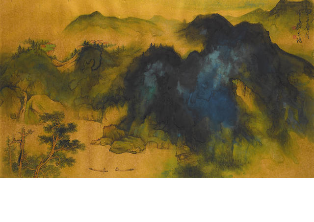 Sun Yunsheng (1918-2000) Blue and Green Landscape