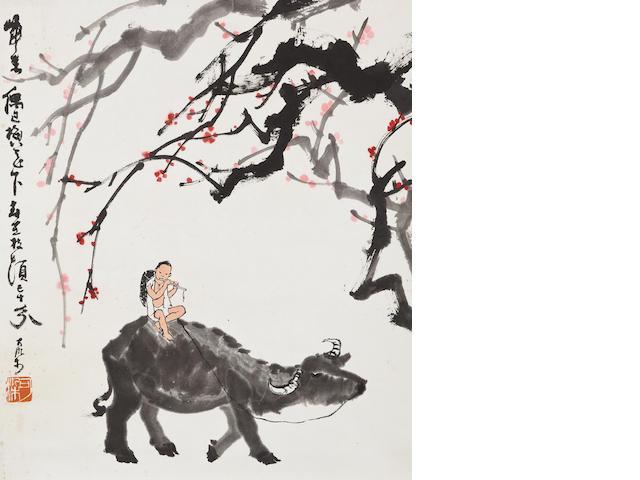 Li Keran (1907-1989) Herding a Buffalo in Spring