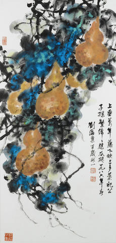 Liu Haisu (1896-1994) Gourds