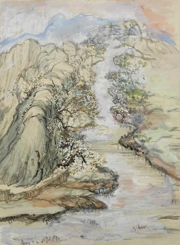 Chen Yinpi (George Chann, 1913-1995) Peach Blossom Spring