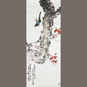 Zhao Shao'ang (Chao Shao'ang, 1905-1998) Birds and Red Leaves