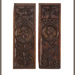A fine pair of mid-16th century oak portrait panels, Anglo-Flemish, circa 1540 - 1560