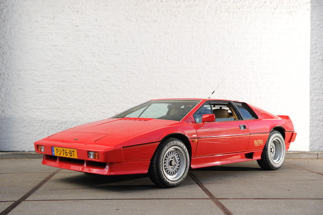 Left-hand drive, 24,160kms and single ownership from new,1986 Lotus Type 82 Esprit Turbo Coupé  Chassis no. SCC082910FHH10606