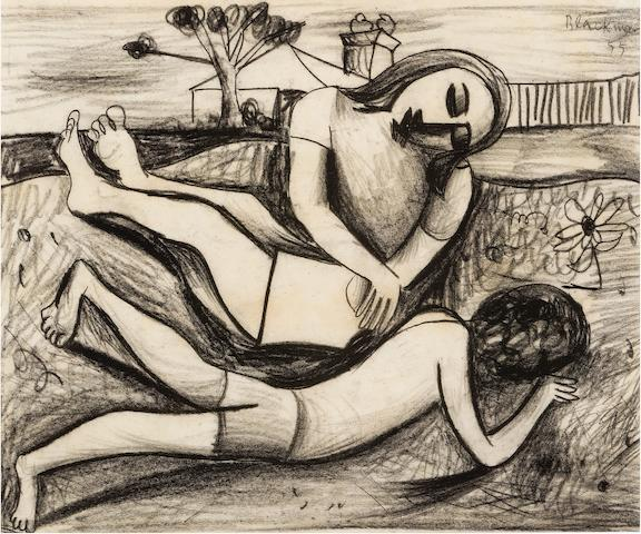 Charles Blackman (born 1928) Two Figures 1955