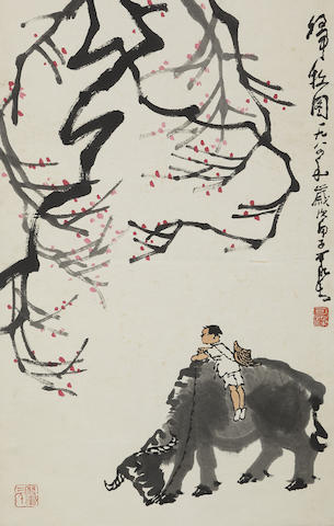 Li Keran (1907-1989) Return from Grazing