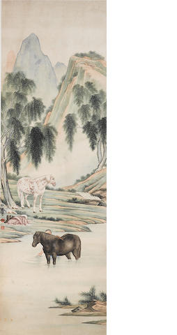 Ma Jin (1900-1970) Washing the Horse