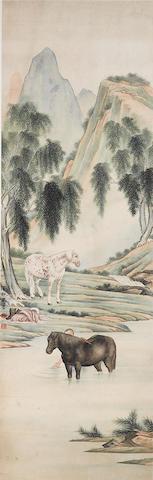 Ma Jin (1900-1970) Washing the Horse