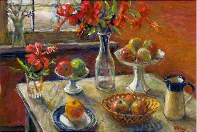 Margaret Olley (1923-2011) Hibiscus 2001