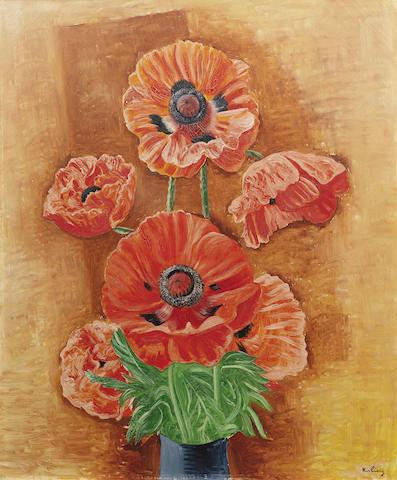 Moïse Kisling (1891-1953) Vase de pavots